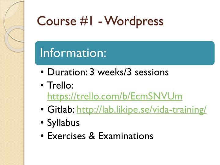 Course #1 -