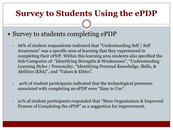Survey to Students Using the