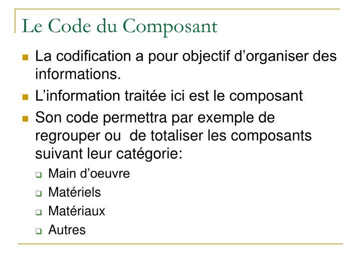 Le Code du Composant