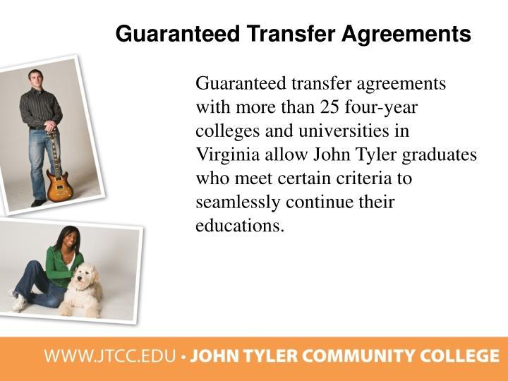 Guaranteed Transfer Agreements