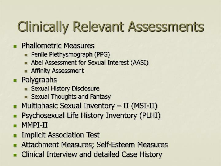 Clinically Relevant Assessments