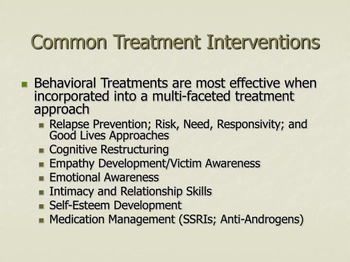 Common Treatment Interventions