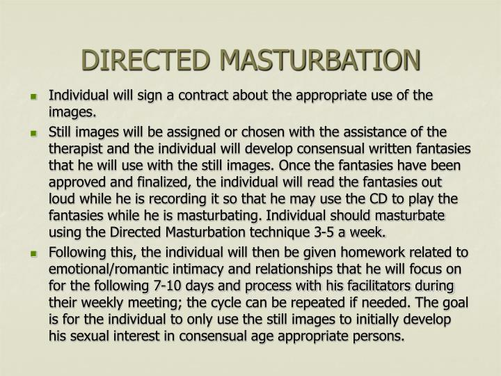 DIRECTED MASTURBATION