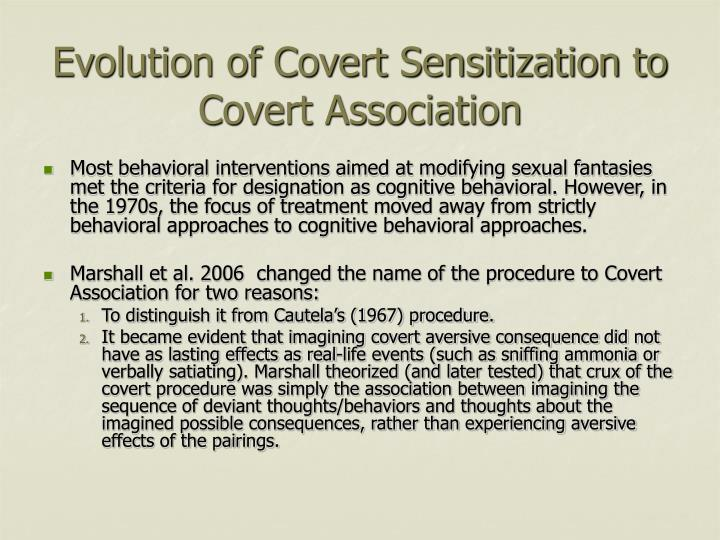 Evolution of Covert Sensitization to Covert Association