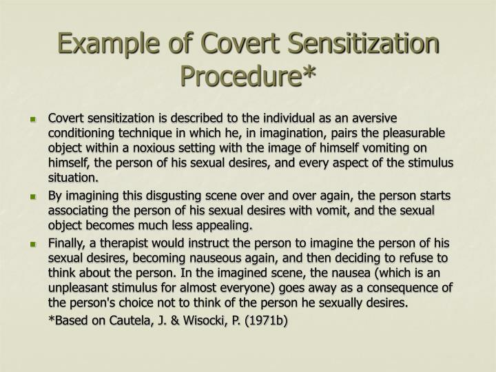 Example of Covert Sensitization Procedure*