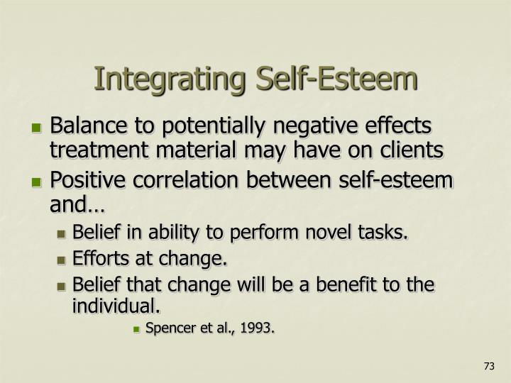 Integrating Self-Esteem