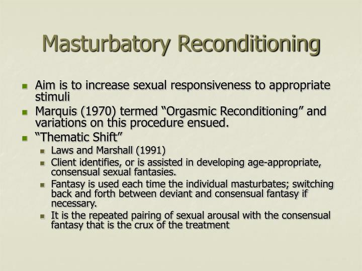 Masturbatory Reconditioning