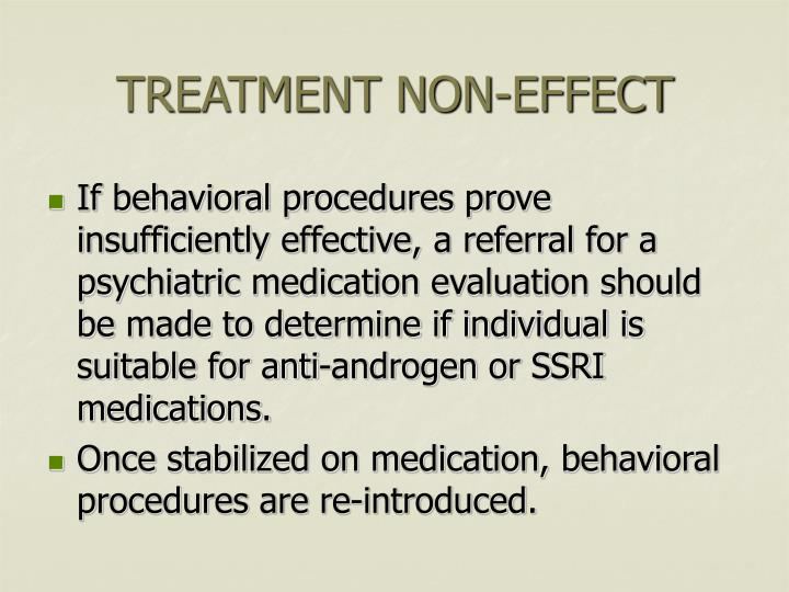 TREATMENT NON-EFFECT