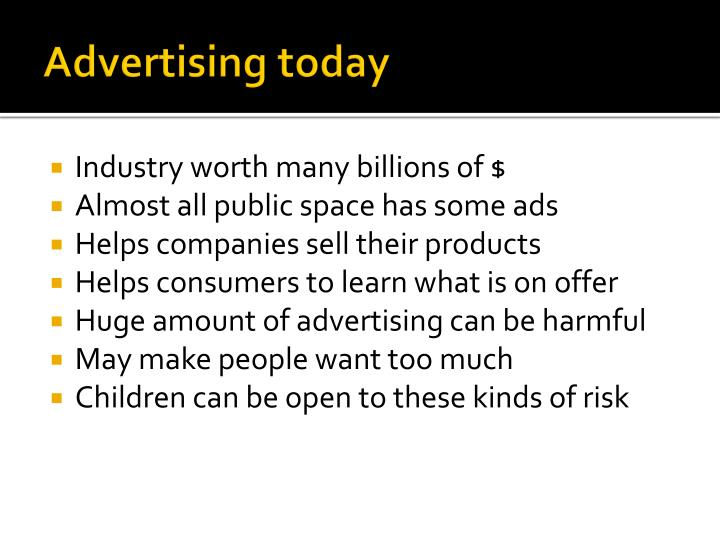 Advertising today