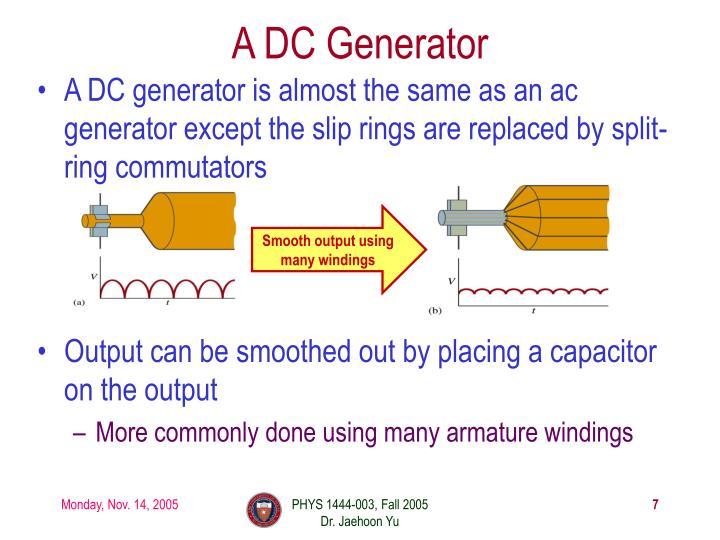A DC Generator