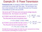 example 29 9 power transmission