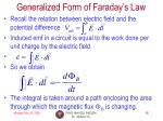 generalized form of faraday s law