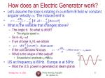 how does an electric generator work1
