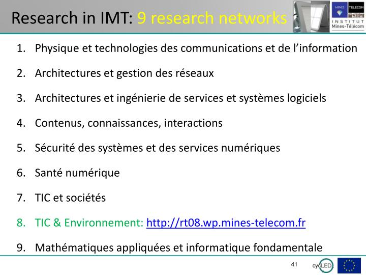 Research in IMT: