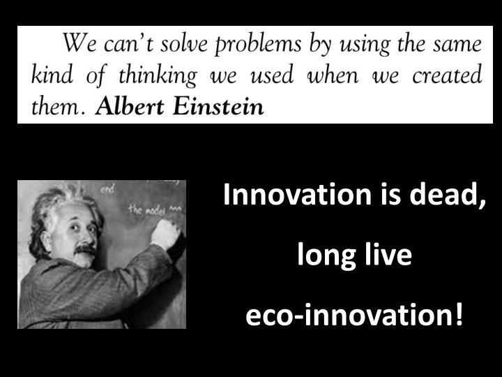 Innovation is dead,