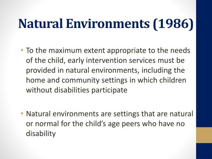 Natural Environments (1986)