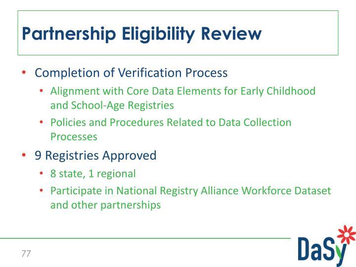 Partnership Eligibility Review