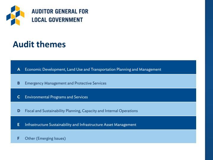 Audit themes