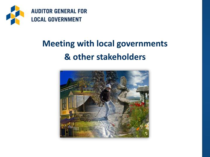 Meeting with local governments