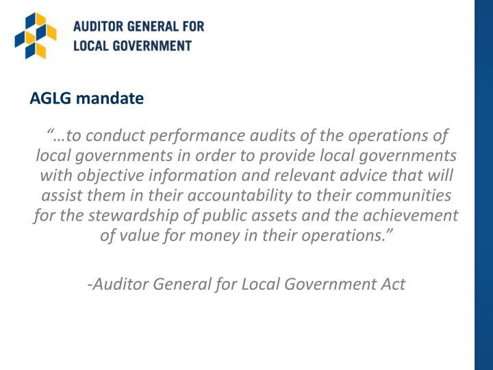 AGLG mandate
