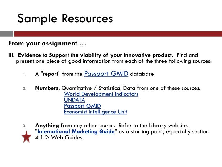 Sample Resources