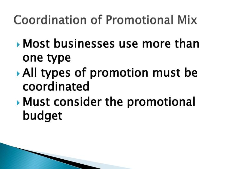 Coordination of Promotional Mix