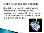 public relations and publicity1