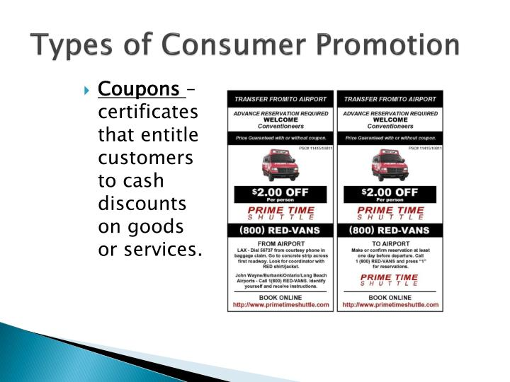 Types of Consumer Promotion