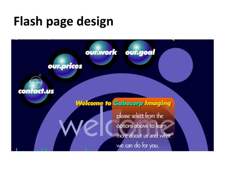 Flash page design