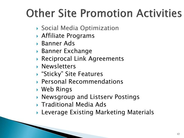 Other Site Promotion Activities