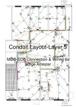 conduit layout layer 5 mdb sdb connection wiring for surge arrester