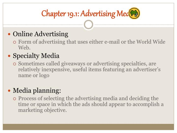 Chapter 19.1: Advertising Media