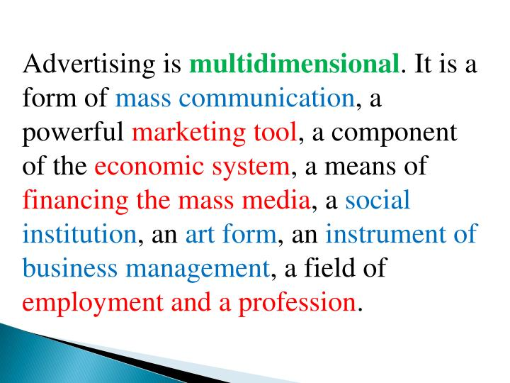 Advertising is