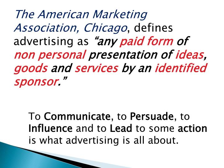 The American Marketing Association, Chicago