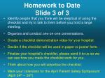homework to date slide 3 of 3