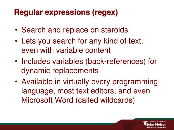Regular expressions regex
