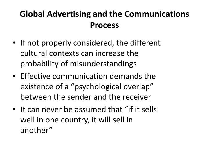 Global Advertising and the Communications Process