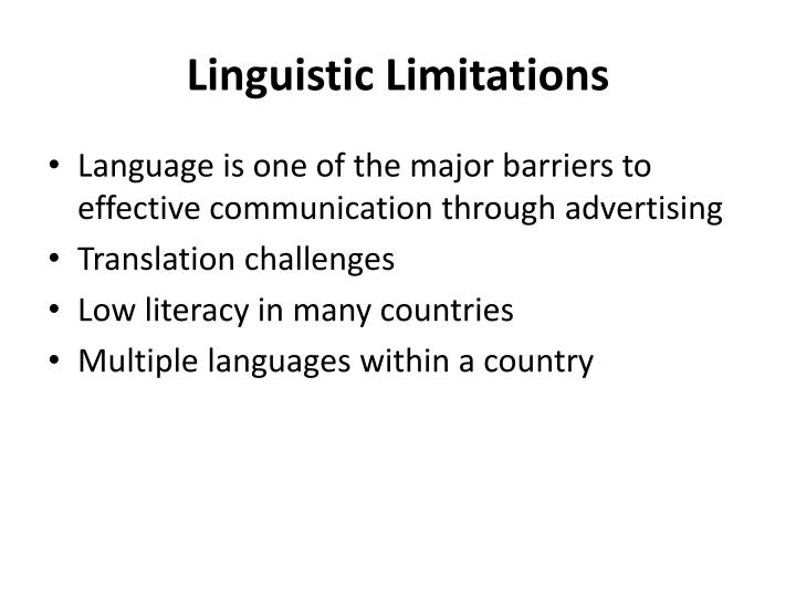 Linguistic Limitations