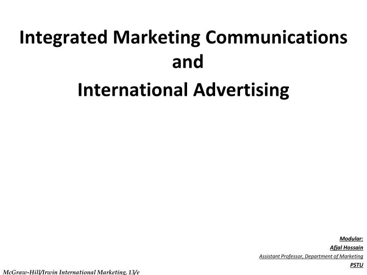 Integrated Marketing Communications and