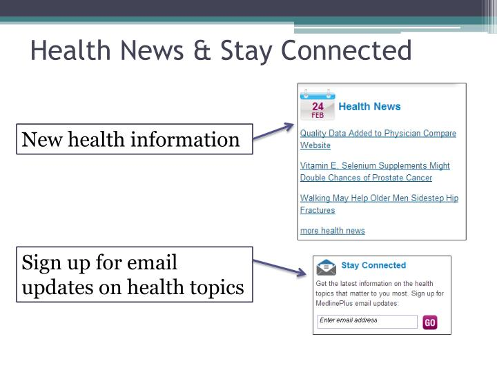 Health News & Stay Connected