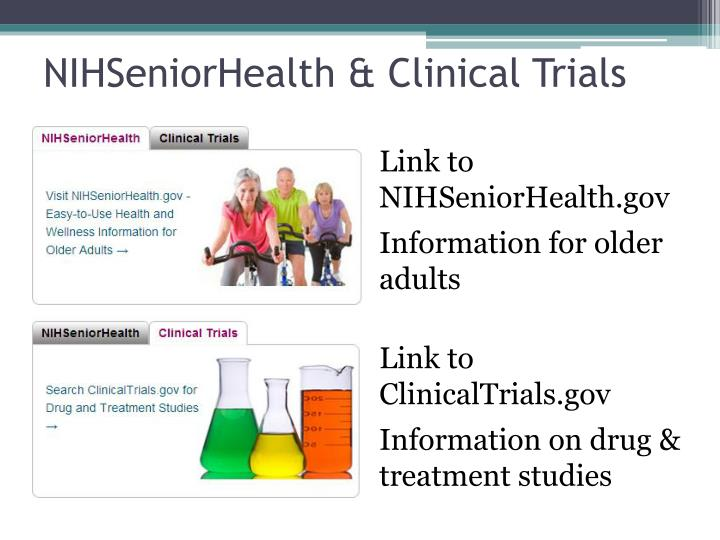 NIHSeniorHealth & Clinical Trials