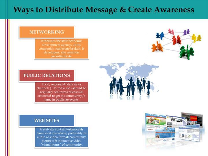 Ways to Distribute Message & Create Awareness