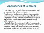 approaches of learning