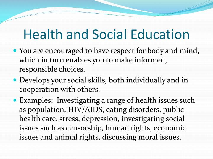 Health and Social Education