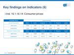 key findings on indicators 6