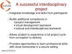 a successful interdisciplinary project