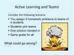 active learning and teams