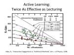 active learning twice as effective as lecturing1