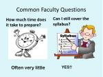common faculty questions