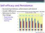 self efficacy and persistence